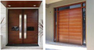Puertas de entrada de madera