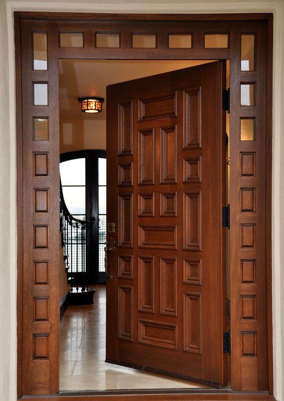 Hermosa Puerta Principal Puertas 100